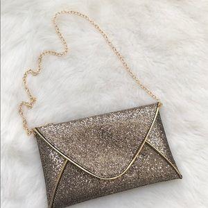 Handbags - Gold envelope clutch